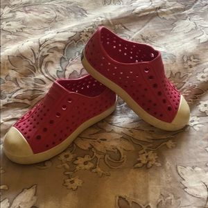 Pink Native Shoes.